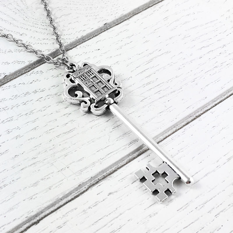 Police Box on Key Necklace - product images  of