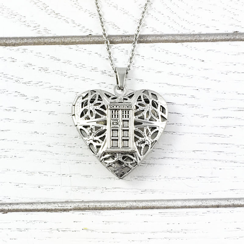 Police Box Heart-Shaped Locket - product images  of