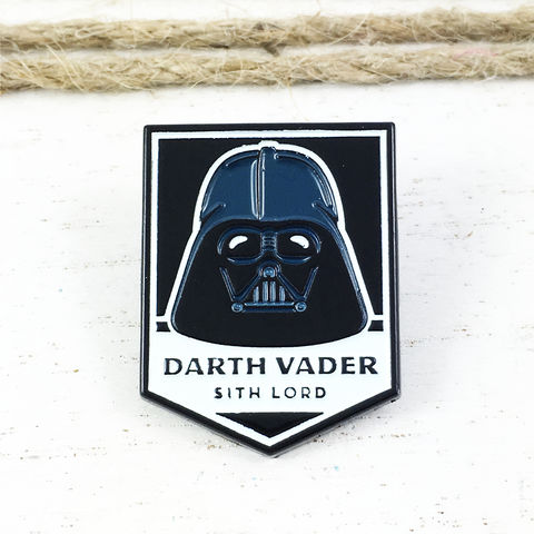 Star,Wars,|,Darth,Vader,Badge,Enamel,Pin,star wars, enamel pin, darth vader, dark side, lapel pin, sci fi, geek, colour, metal, collection