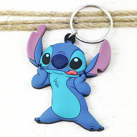 Lilo,and,Stitch,Keychain,lilo and stitch, keychain, key chain, keyring, stitch, blue, soft, plastic, rubber, kids
