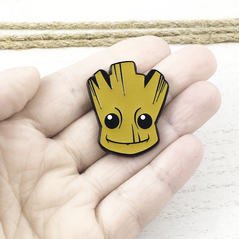 Groot Face Enamel Pin - product images  of