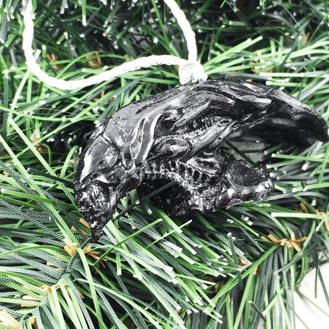 Alien,|,3D,Queen,Bust,Ornament, aliens, queen, head, bust, 3d, christmas, ornament, holiday, decoration, black, resin, plastic, horror, sci-fi