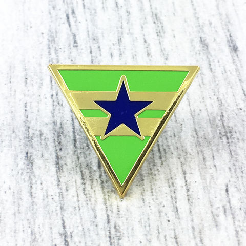 Firefly,Serenity,Browncoats,Enamel,Pin,firefly, serenity, browncoats, enamel pin, badge, brown coats, green triangle star logo, chevron, mal reynolds