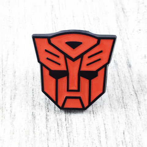 Transformers,Autobots,Large,Enamel,Pin,transformers, autobots, enamel pin, red, metal, optimus prime, retro, cartoon