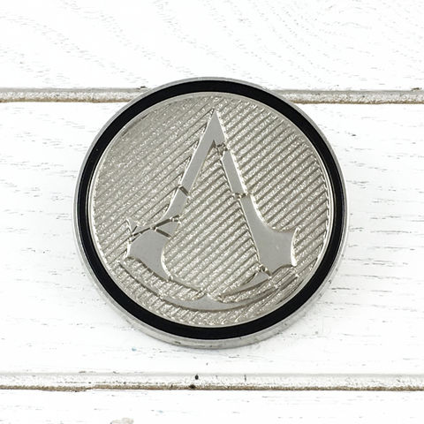 Assassin's,Creed,Rogue,Insignia,Lapel,Pin,assassin's creed, rogue, insignia, lapel pin, round, pin, badge, coin, power-a, gamer, geek, collectors, series 1, blind box