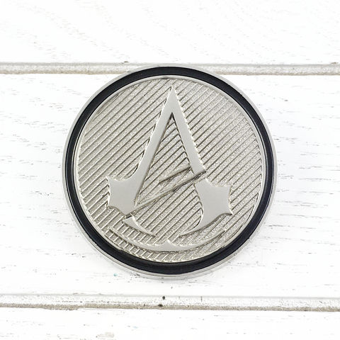 Assassin's,Creed,Unity,Insignia,Lapel,Pin,assassin's creed, unity, insignia, lapel pin, round, pin, badge, coin, power-a, gamer, geek, collectors, series 1, blind box