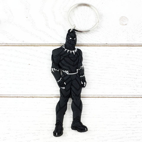 Black,Panther,Soft,Keychain,black panther, keychain, keyring, key chain, soft, plastic, light, rubber, kids