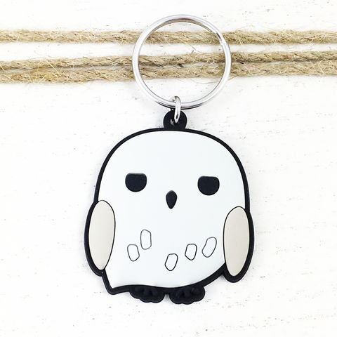 Harry,Potter,Hedwig,Soft,Keychain,harry potter, hedwig, soft, lightweight, keychain, keyring, key chain, bag clip, owl, white, snowy owl