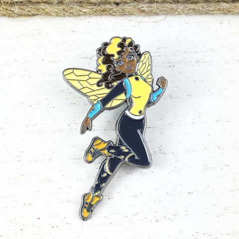 Super,Hero,Girls,Bumblebee,Enamel,Pin,super hero girls, DC, bumblebee, bumble bee, enamel pin, girls, kids, collectors pin, badge, colour, metal