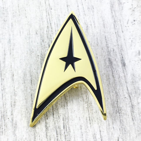 Star,Trek,Classic,Command,Badge,star trek, badge, brooch, command, communicator, golden, original series, tos, cosplay, pin, geeky