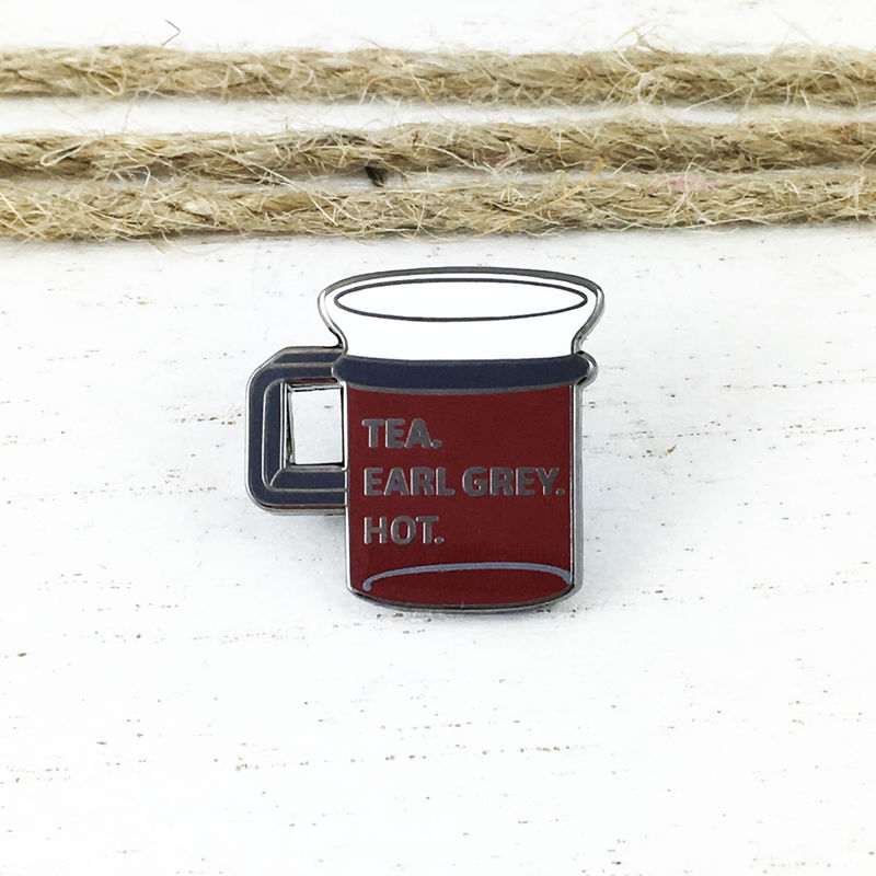 Tea, Earl Grey, Hot Enamel Pin - product images  of