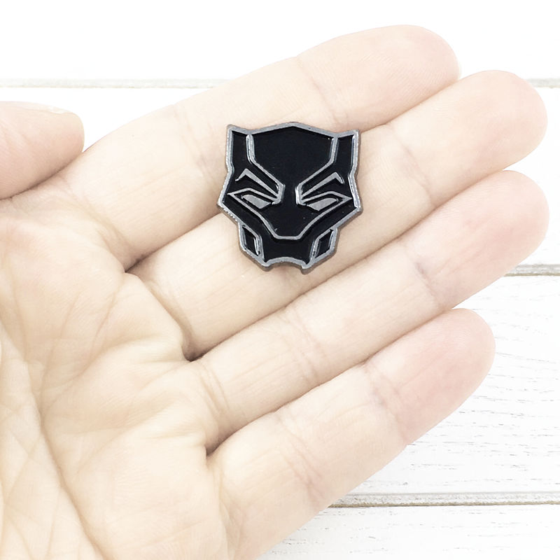 Black Panther Mask Enamel Pin - product images  of