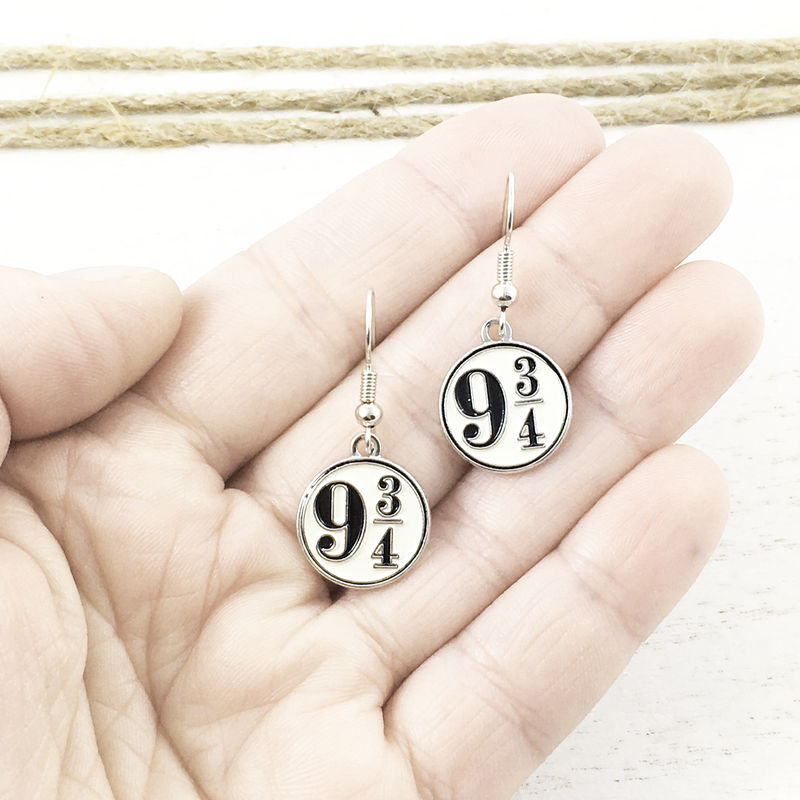 Harry Potter Platform 9-3/4 Enamel Earrings - product images  of