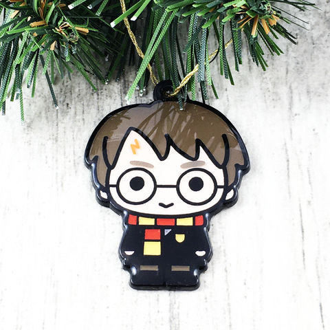 Harry,Potter,Chibi,Character,Christmas,Ornament,harry potter, ornament, chibi, character, figure, charm, enamel, metal, durable, christmas, decoration