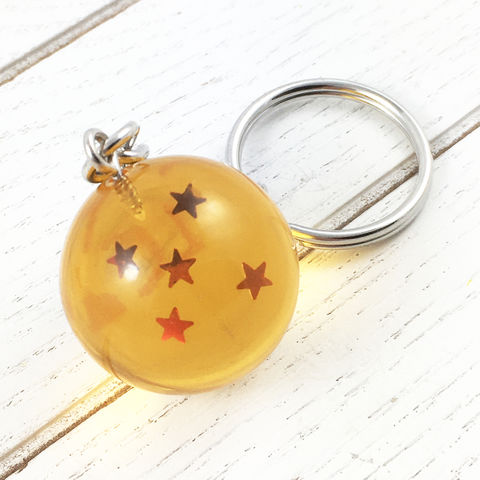 Dragon,Ball,3D,Keychain,dragon ball, keychain, keyring, 4 star, 5 star, 3 star, 7 star, 6 star, dragonball z, orange, resin, plastic