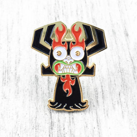 Samurai,Jack,AKU,Enamel,Pin,samurai jack, enamel pin, aku, colour, metal, adult swim, kidrobot, kid robot, collectible, blind box
