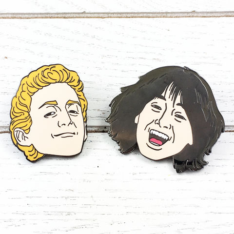 Bill,and,Ted's,Excellent,Adventure,Pin,Set,bill and ted's excellent adventure, enamel pin, set, colour, metal, incendium, keanu reeves