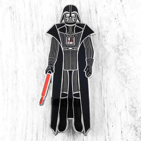 Darth,Vader,Retro,Action,Figure,Enamel,Pin,Star wars, enamel pin, official, vintage action figure, toy, princess leia, han solo, storm trooper, darth vader, chewbacca, wookie, chewie, sdcc exclusive, san diego comiccon, collectible
