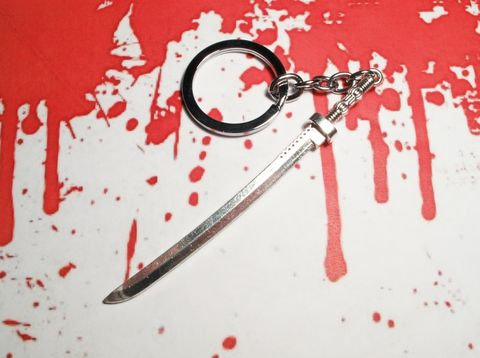 Samurai,Sword,Keychain,inspired,by,Walking,Dead,Michonne,Zombie,Katana,sword keychain, sword, katana, samurai sword, michonne, walking dead, silver, metal, zombie, kill bill, apocalypse, ninja