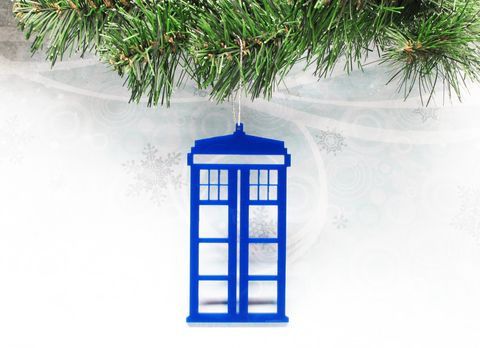 Blue,Police,Box,Christmas,Ornament,,inspired,by,Dr.,Who,and,the,TARDIS,police box, christmas ornament, xmas, decoration, blue, tardis, doctor who, dr who, blue box, police public call box, phone box, silhouette, acrylic, whovian, christmas tree, christmas, geronimo