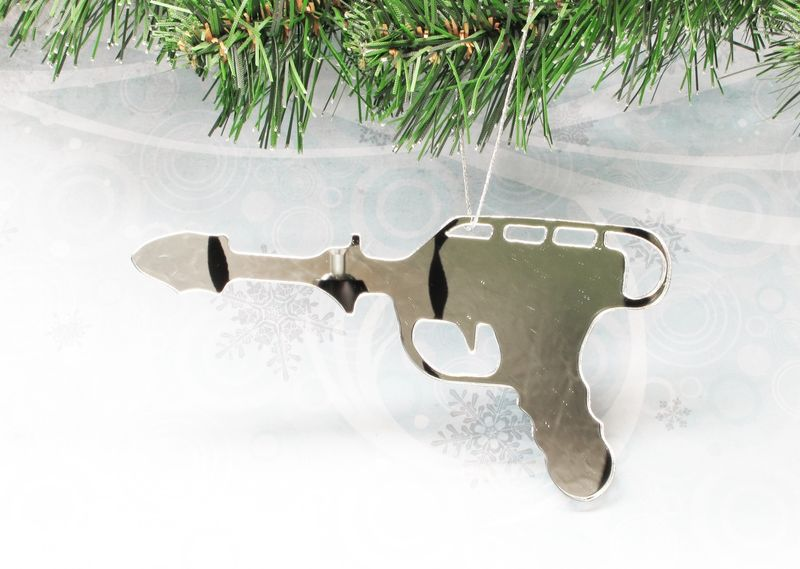 Raygun Christmas Tree Ornament, laser blaster phaser geek retro mirror - product images  of