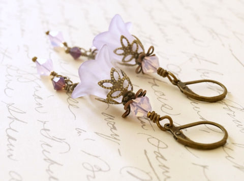 Light,Purple,Lucite,Flower,Earrings,,Vintage,Style,Earrings,Jewelry,lucite_flowers,flower_earrings,handmade_earrings,acrylic_earrings,lucite_earrings,lucite_jewelry,lucite_fashion,womens_fashion,gift_for_her,brass_earrings,vintage_style,canadian_made,purple_earrings