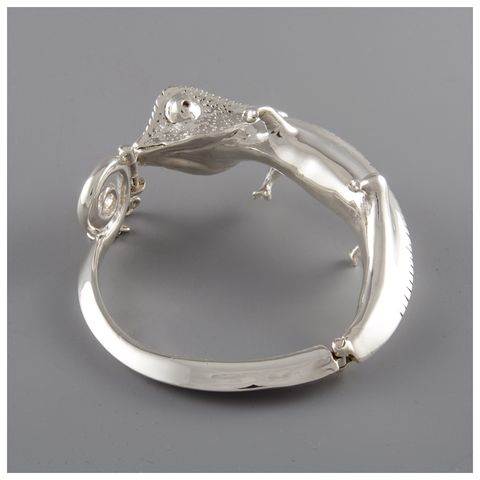 Sterling,Silver,Full,Body,Chameleon,Cuff,Sterling silver cuff,  Ndau collection, Chameleon cuff,  bracelet