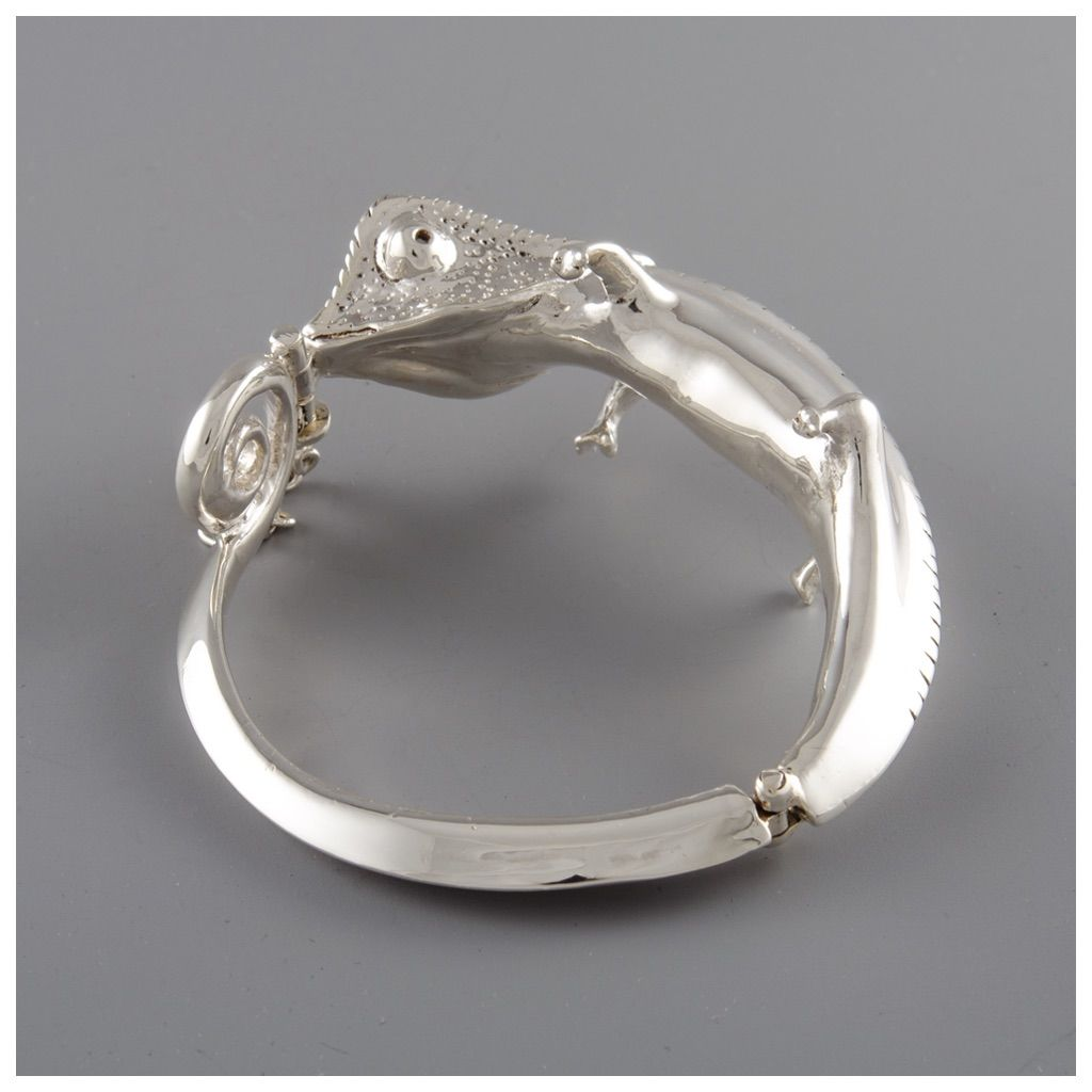 Sterling Silver Full Body Chameleon Cuff - product image