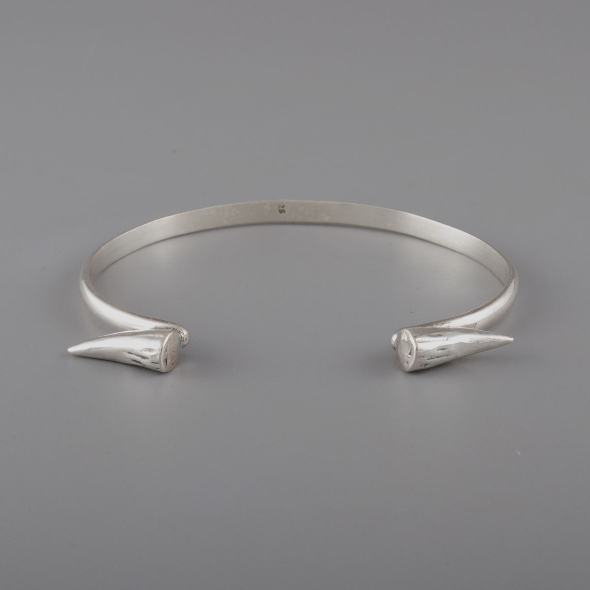 Sterling Silver Rhino Horn Bracelet - product image