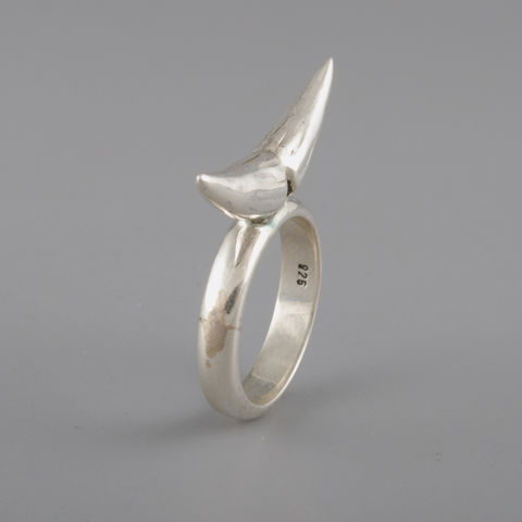 Sterling,Silver,Rhino,Horn,Ring,Sterling Silver, Rhino Horn, Ring