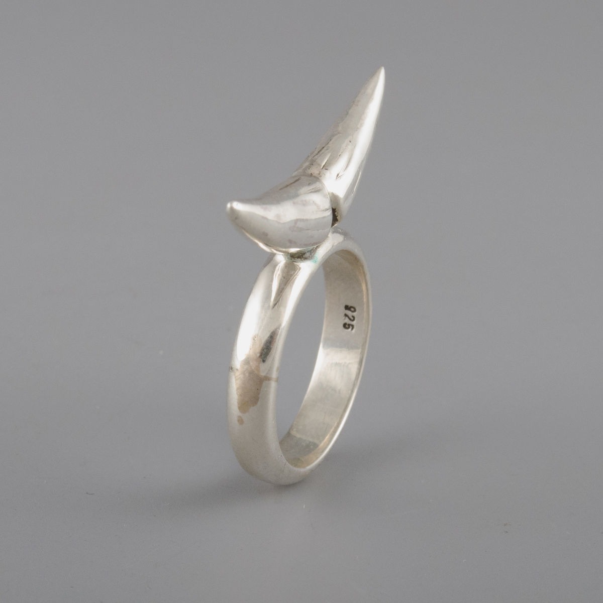 Sterling Silver Rhino Horn Ring - product image