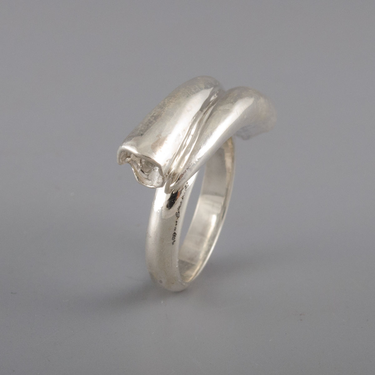 Sterling silver Elephant Tusk Ring - product image