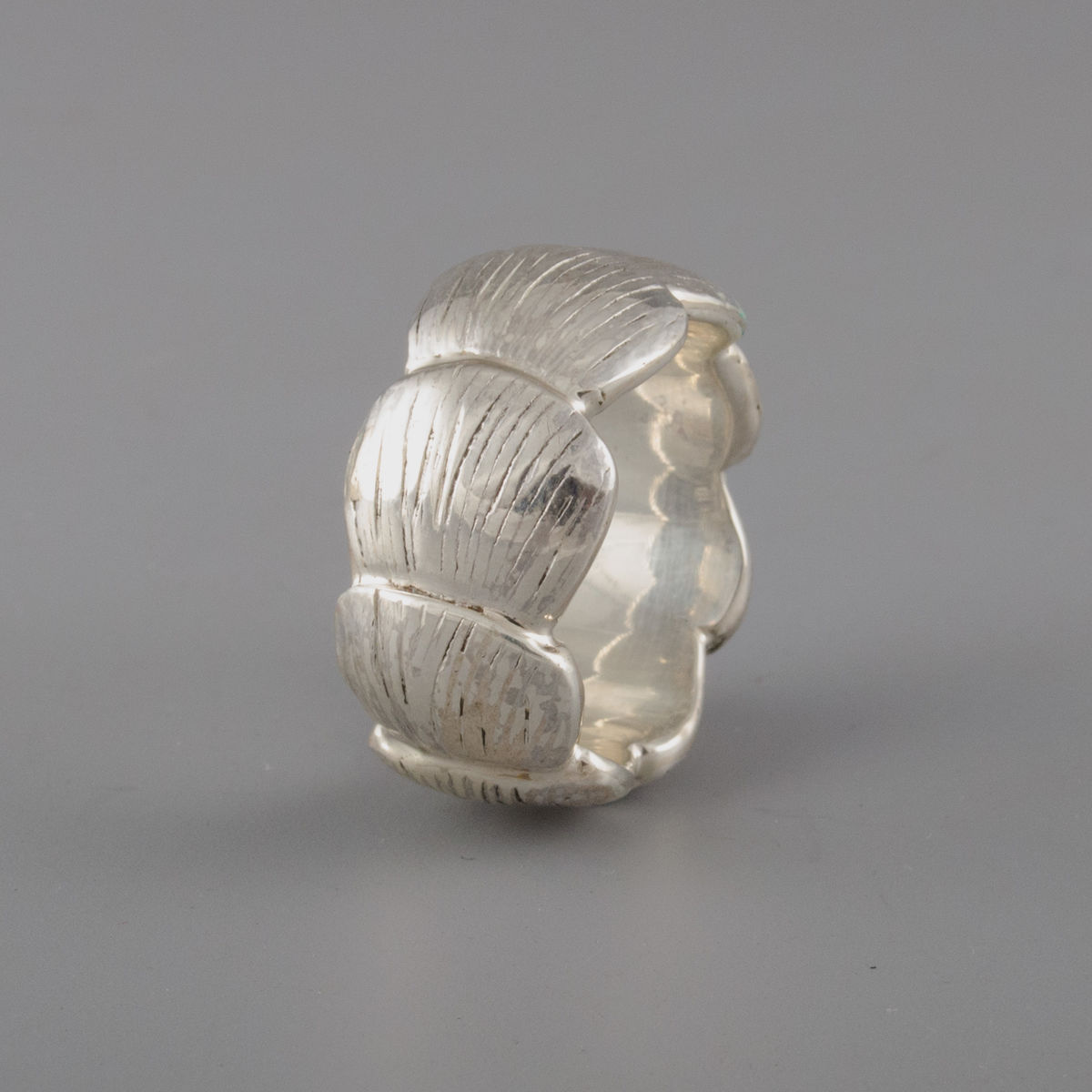 Sterling Silver Pangolin Scale Ring - product image
