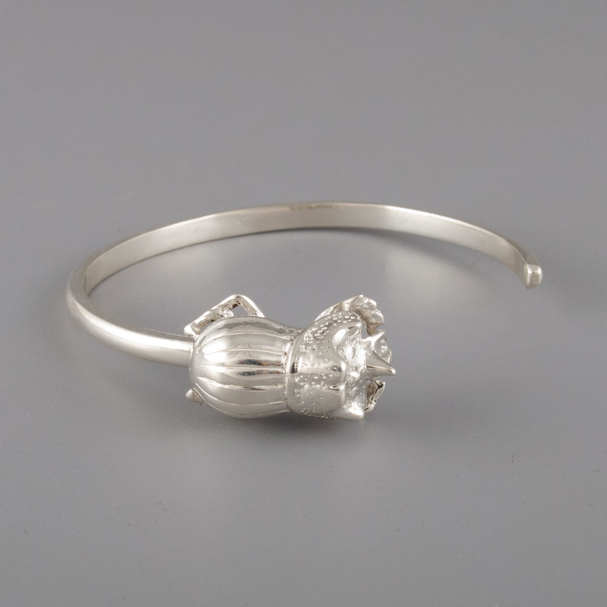 Sterling Silver Rhino Beetle Bracelet - product image