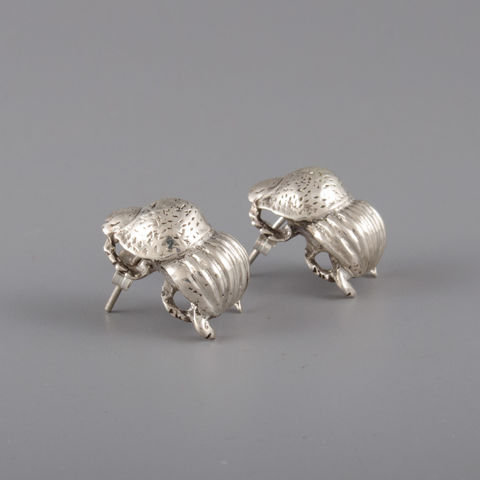Sterling,Silver,Dung,Beetle,Earrings,Sterling Silver, Dung Beetle, Earrings