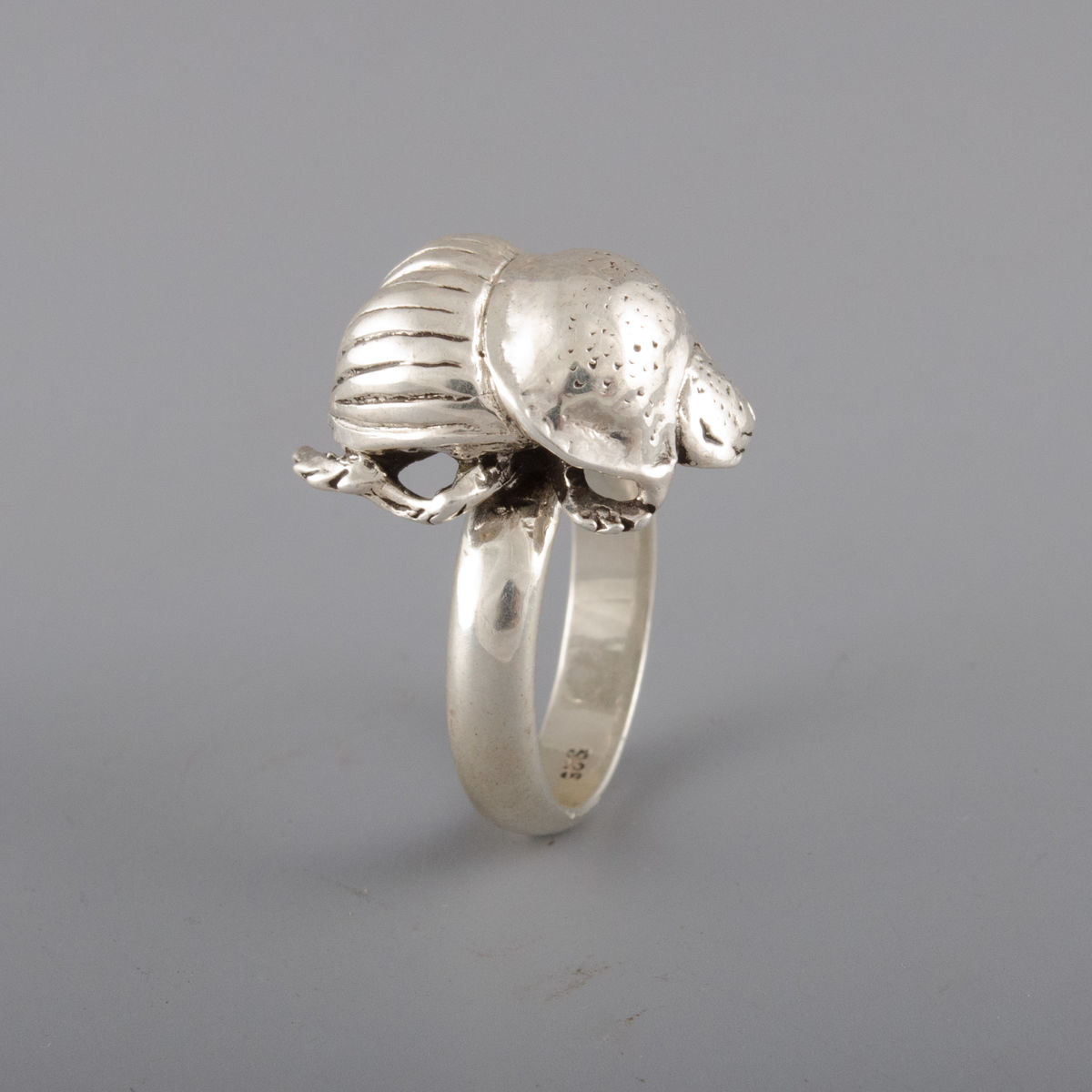 Sterling Silver Dung Beetle Ring - product image