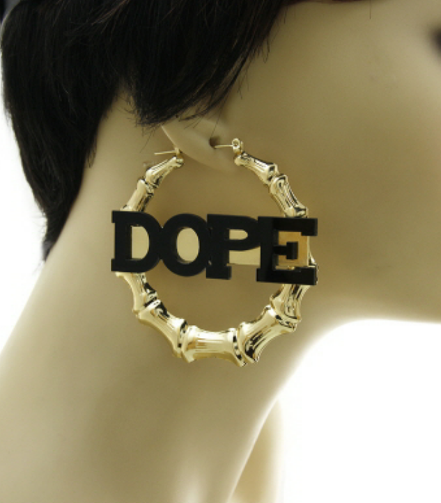 dope earrings bamboo quot dope quot earrings fearless masterpieces 104