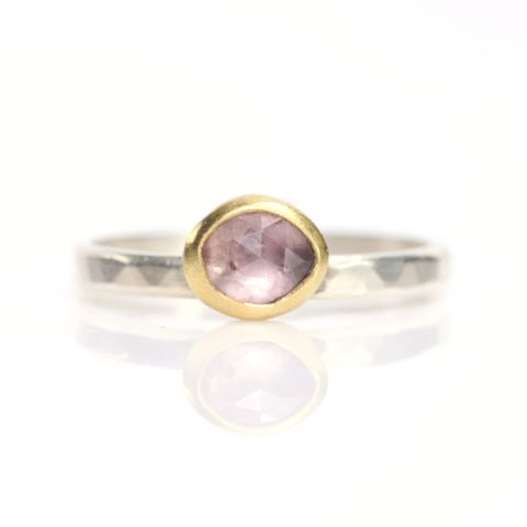 Rose,Cut,Pink,Sapphire,Ring,unique handcrafted jewelry, handcrafted artisan jewelry, unique gemstone jewelry, unique stone jewelry, rose cut jewelry, rose cut sapphire ring, rose cut pink sapphire ring, rose cut pink sapphire stacking ring