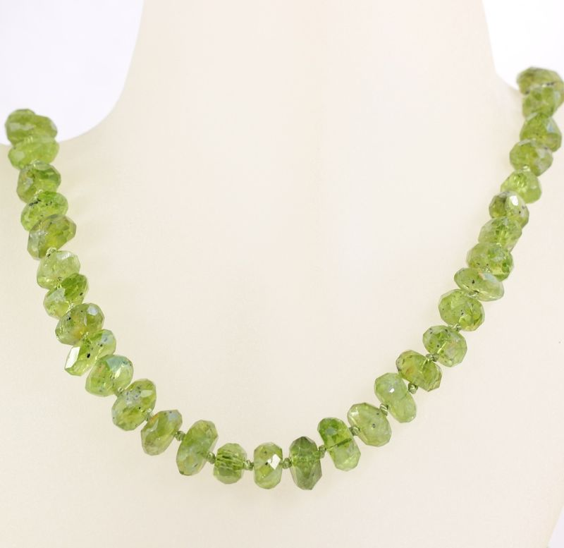 Green Peridot Strand Necklace - product images  of
