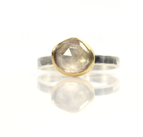Rose,Cut,Champagne,Citrine,Stacking,Ring,unique handcrafted jewelry, handcrafted artisan jewelry, unique gemstone jewelry, unique stone jewelry, handmade jewelry, citrine stacking ring, rose cut citrine ring, rose cut champagne citrine ring
