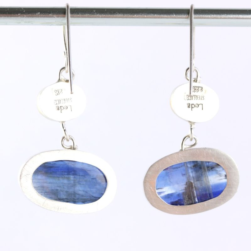 Blue Kyanite & Australian Opal Earrings - product images  of