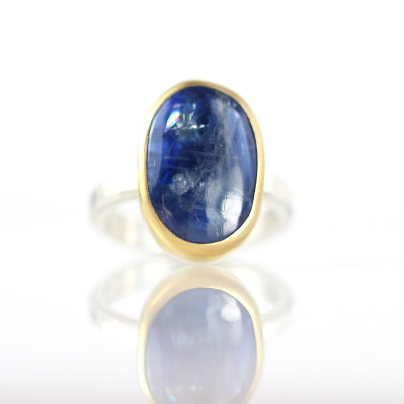 Blue Kyanite Cabochon Ring - product images  of