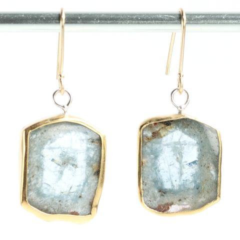 Natural,Aquamarine,Crystal,Slice,Earrings,natural_aquamarine_crystal_slice_earrings_beryl_cross section_berylicious_raw_rough_specimen_jewelry_handmade_unique_handcrafted_jewelry_ artisan _unique_gemstone _stone_new orleans_22K_gold_silver
