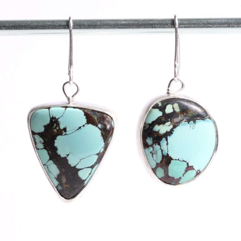 Miss Matched Natural Turquoise Earrings  - product images  of