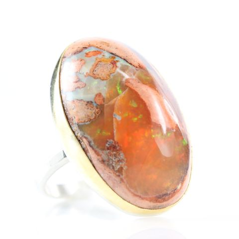Cantera,or,Mexican,Fire,Opal,Ring,cantera_opal_mexican_fire_opal_play_of_light_natural_big_huge_ring_jewelry_handmade_unique_handcrafted_jewelry_ artisan _unique_gemstone _stone_new orleans