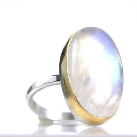 Oval,Rainbow,Moonstone,Cabochon,Ring,rainbow_moonstone_ring_cabochon_big_carats_natural_gold_silver_handmade_unique_handcrafted_jewelry_ artisan _unique_gemstone _stone_new orleans