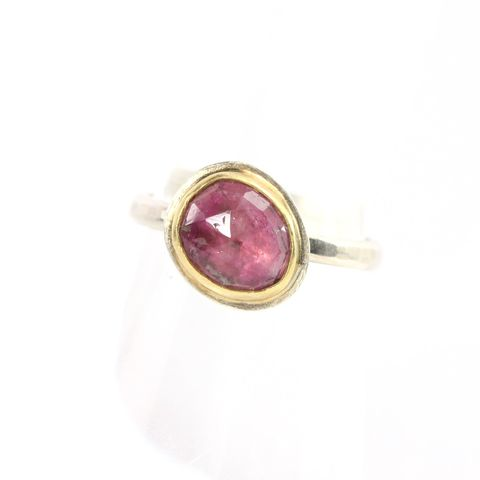 Rose,Cut,Pink,Tourmaline,Stacking,Ring,rose_cut_pink_tourmaline_rubelite_stack_stacking_ring_jewelry_rosecut_handmade_unique_handcrafted_jewelry_ artisan _unique_gemstone _stone_natural_gemstone_New Orleans