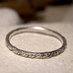 Tree,Bark,Texture,Hammered,Sterling,Silver,Stack,Ring,hand crafted Jewelry, hand made sterling_silver_ring, silver_jewelry, silver_stack_ring, stacking_stacker, hand_forged_metal, polished_silver_ring, stackable_ring, tree_bark_texture, textured_ring, 2mm_silver_ring, simple_organic_ring, hamme
