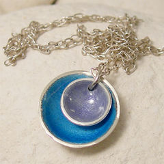 Lavender,Blue,Double,Enamel,Silver,Pendant,Necklace,Jewelry,enamel_silver,enamel_jewelry,double_pendant,sea_blue_marine_blue,round_charm_necklace,silver_dome,beach_jewelry,vacation_necklace,lavender_lilac_mauve,silver_candy_pendant,feminine_necklace,everyday_necklace,enamel_necklace