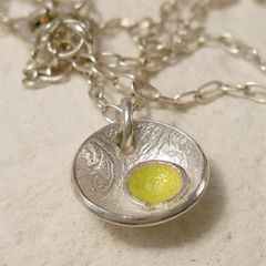 Organic,Silver,Seed,Pod,Pendant,,Lemon,Yellow,Enamel,Jewelry,Necklace,enamel_silver,organic_jewelry,silver_seed_pod,lemon_yellow_pendant,enamel_necklace,tiny_silver_charm,pale_yellow,fused_glass,nature_necklace,graduation_gift,round_silver_pendant,embryo_jewelry,enamel_jewelry